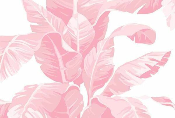 'Pacifico Palm' Wallpaper by Nathan Turner - Garcelle Pink - Wallpaper Roll - Sample